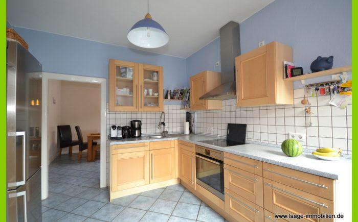 Die geräumige Küche.