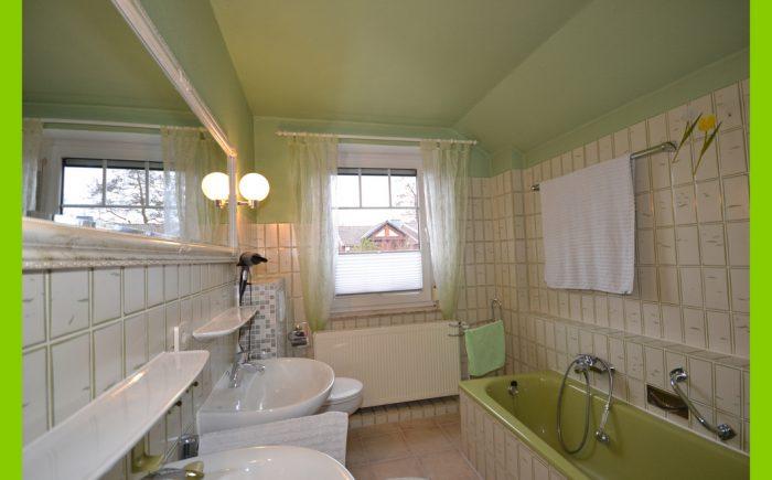 Das Vollbad mit Dusche und Badewanne.