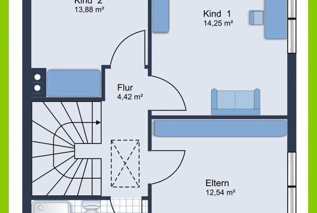 Beispielhafter Grundriss ( nicht das identische Haus)