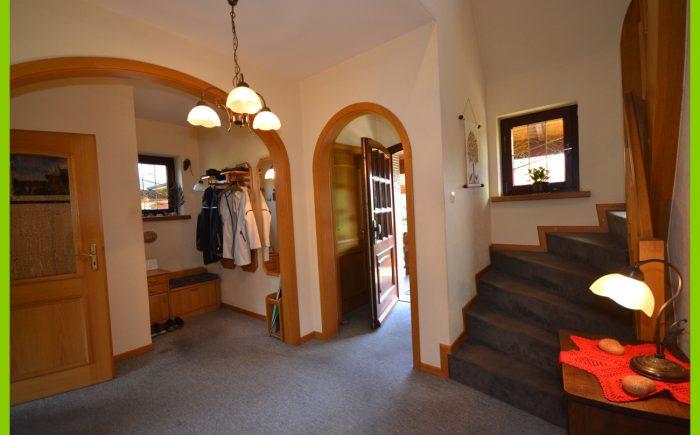 Der Blick zum Eingangsbereich.