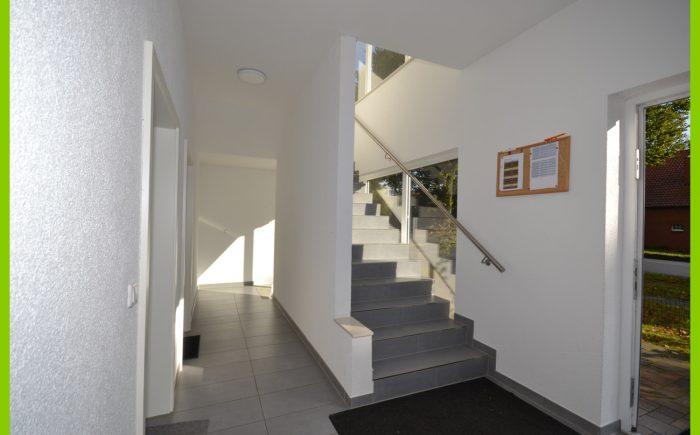 Das moderne Treppenhaus.