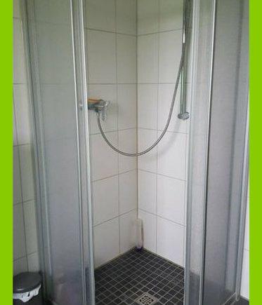 Die bodentiefe Dusche.