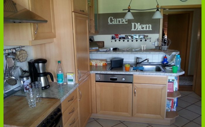 Der Blick zum Küchentresen.