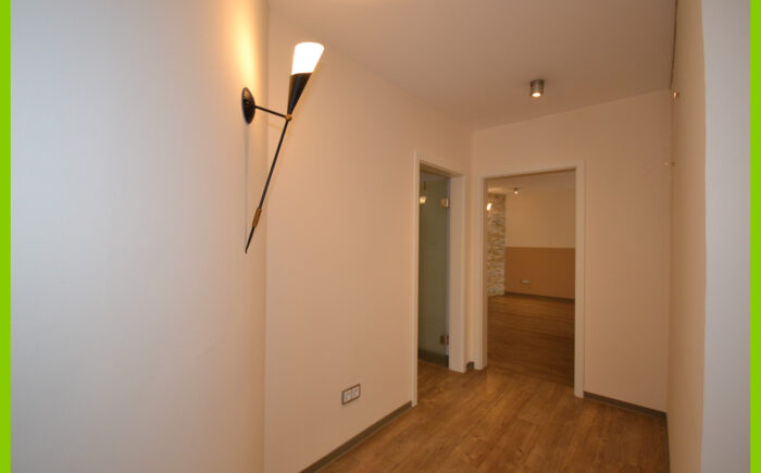 Die Eingangsbereich der zusätzlichen Räume.