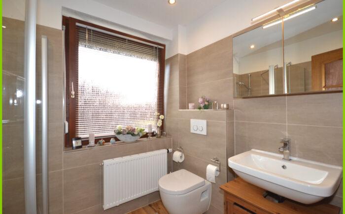 Das moderne Badezimmer.